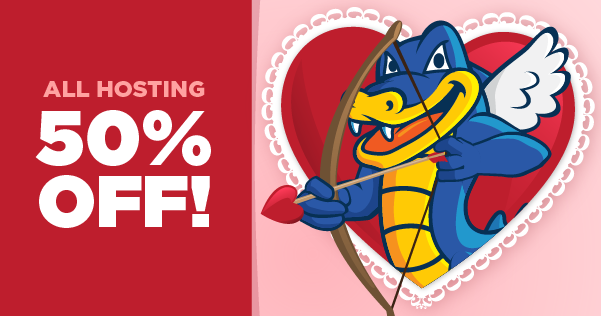 Valentine's Day 50% Off Hosting